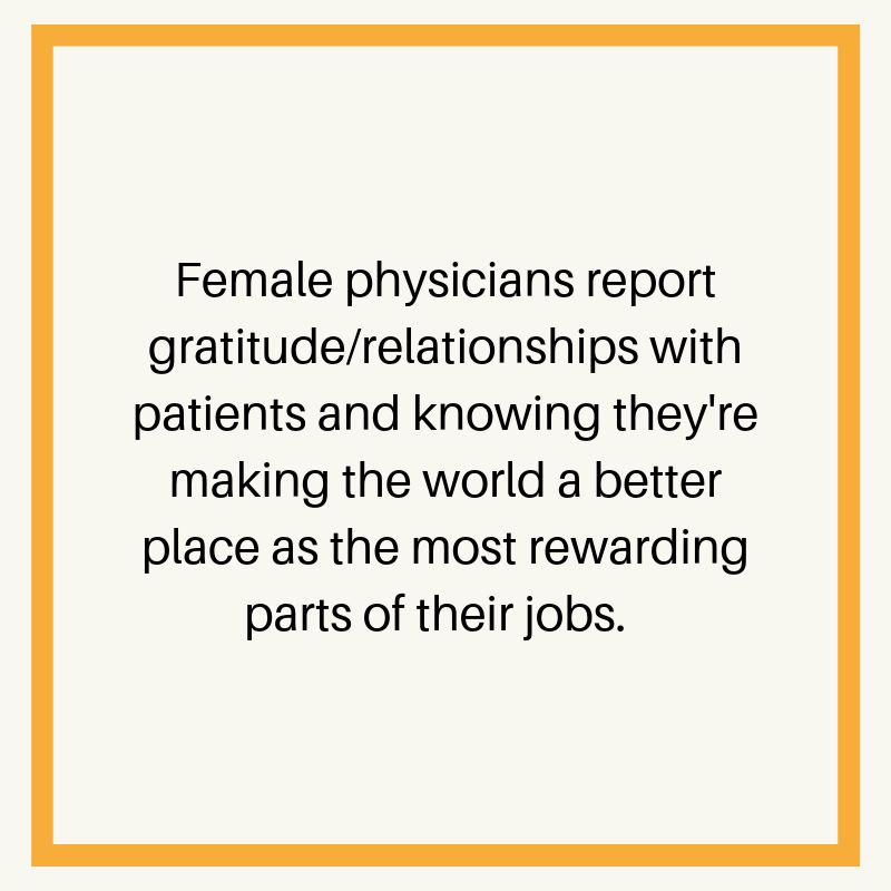 female physicians most rewarding